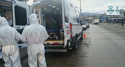 Obreros sufren descarga eléctrica en Cuenca