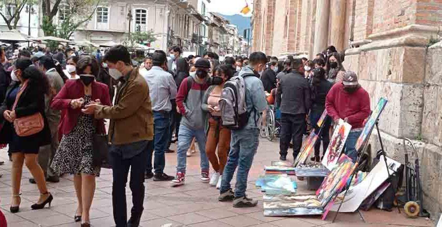 La Calle del Artista, en el Centro Histórico de Cuenca.